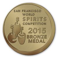 Ganador de la medalla de Bronce en la San Francisco World Spirits Competition 2015